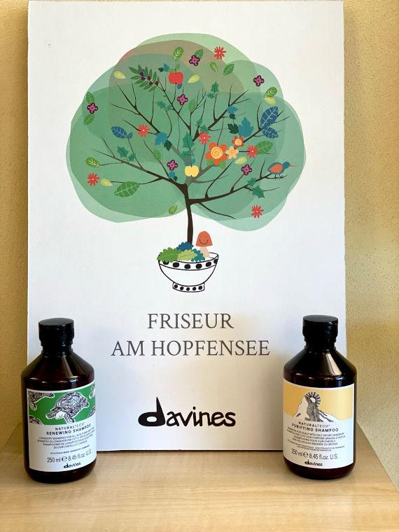 Davines Shampoos, Friseursalon am Hopfensee und am Enzensberg in Hopfen am See